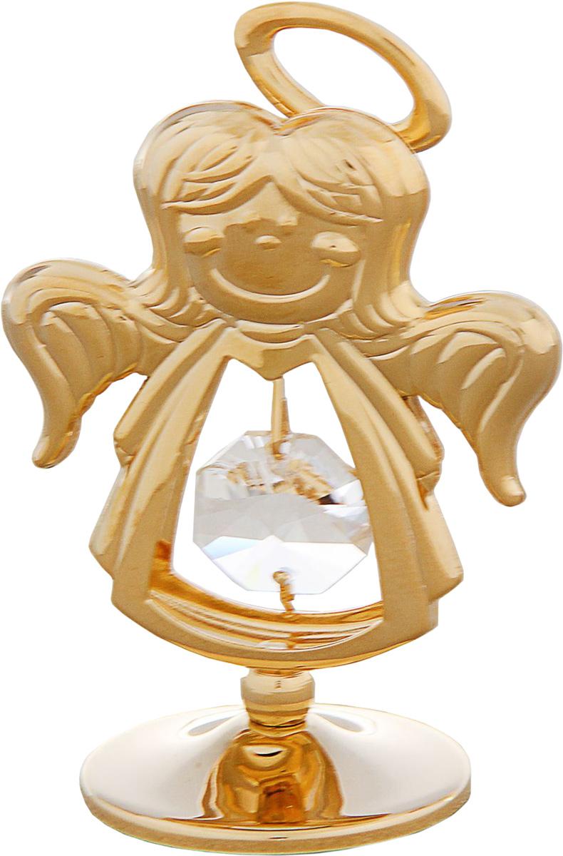 Миниатюра Ангел, с кристаллами Сваровски, 5 х 3,5 х 7,5 см1431463Сувенирный ангел станет идеальным подарком близкому человеку и всем любителям эксклюзивных вещей ручной работы. Он является символом служения, а также высшей духовности, чистоты и заступничества.Сувенир украшен стразами Swarovski, которые были признаны специалистами лучшей имитацией бриллиантов. Свет, попадая на кристаллы Swarovski, разбивается на миллион радужных лучей. Это зрелище, бесспорно, оставляет яркое впечатление!