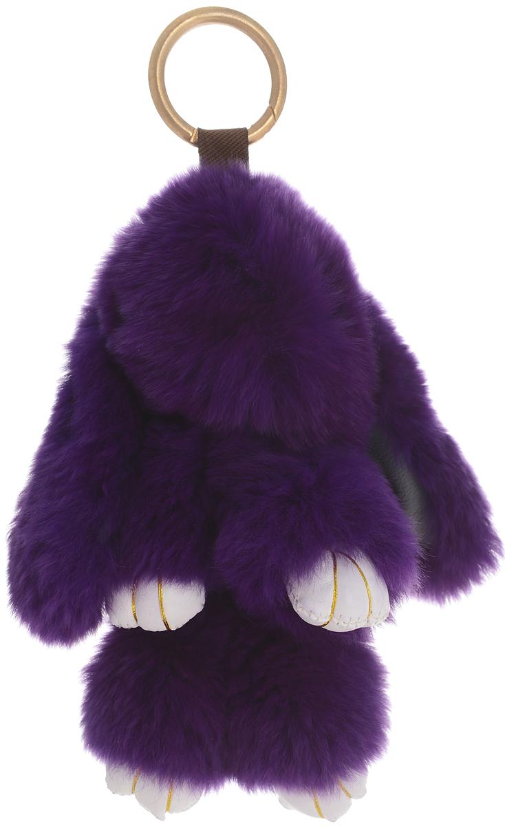 Vebtoy Брелок Пушистый кролик цвет фиолетовый БР-303