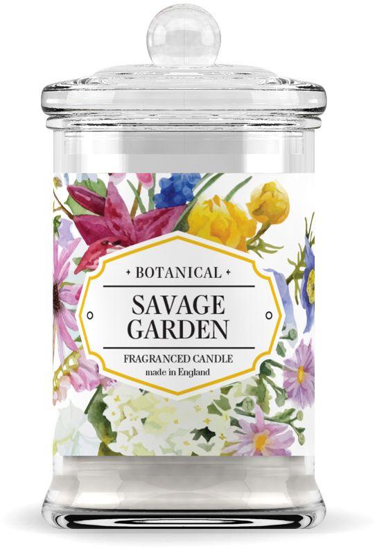"""Свеча ароматическая """"Дикий сад"""" имеет 60 часов горения. Солнечная медовая мимоза и разноликий пион борются за первенство своих тонов."""
