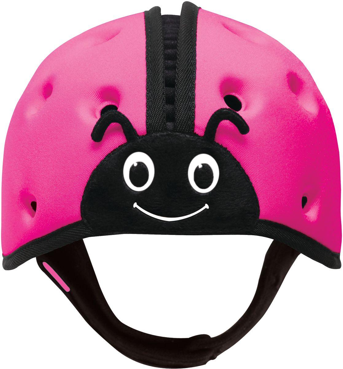 SafeheadBABY Шапка-шлем Божья коровка цвет розовый12003Запатентованный и получивший награды мягкий головной убор предназначен детей, которые учатся ходить, чтобы защитить их от ударов, ушибов и падения с высоты их роста, когда они все еще неустойчиво стоят на ногах. Стирать можно только с использованием ручной стирки с водой и мылом. Сушка в помещении.