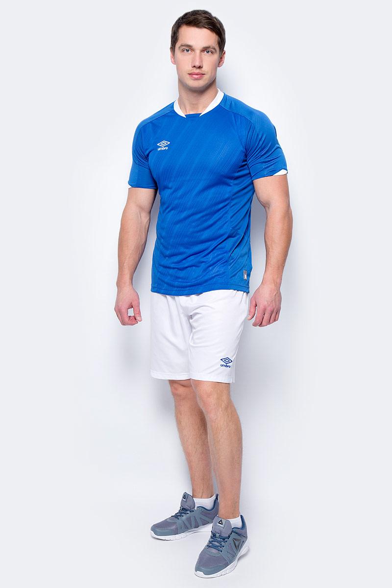 Шорты спортивные мужские Umbro Armada Short, цвет: белый, синий. 130115. Размер XL (52)130115Шорты, выполненные из 100% полиэстера, отлично подойдут для игр и частых и активных футбольных тренировок. Модель на поясе имеет широкую эластичную резинку. Кокетка из сетки для дополнительного отвода влаги.
