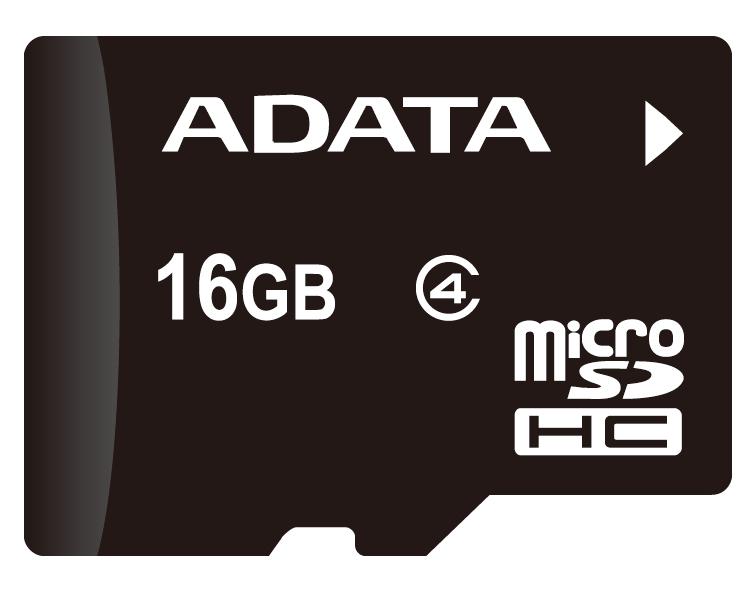 ADATA microSDHC Class4 16GB карта памяти с адаптером (AUSDH16GCL4-RA1) adata classic c906 16gb white