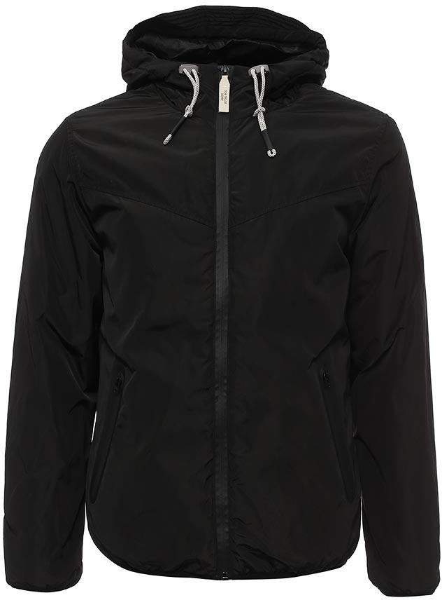 Куртка мужская Tom Tailor, цвет: черный. 3555039.00.12_2999. Размер XL (52)3555039.00.12_2999Теплая мужская куртка от Tom Tailor выполнена из высококачественного материала. Модель с капюшоном и длинными рукавами застегивается на молнию. По бокам куртка дополнена карманами.