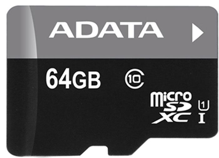 ADATA microSDXC UHS-1 CL10 64GB карта памяти (AUSDX64GUICL10-R) samsung microsdxc evo plus 64gb адаптер