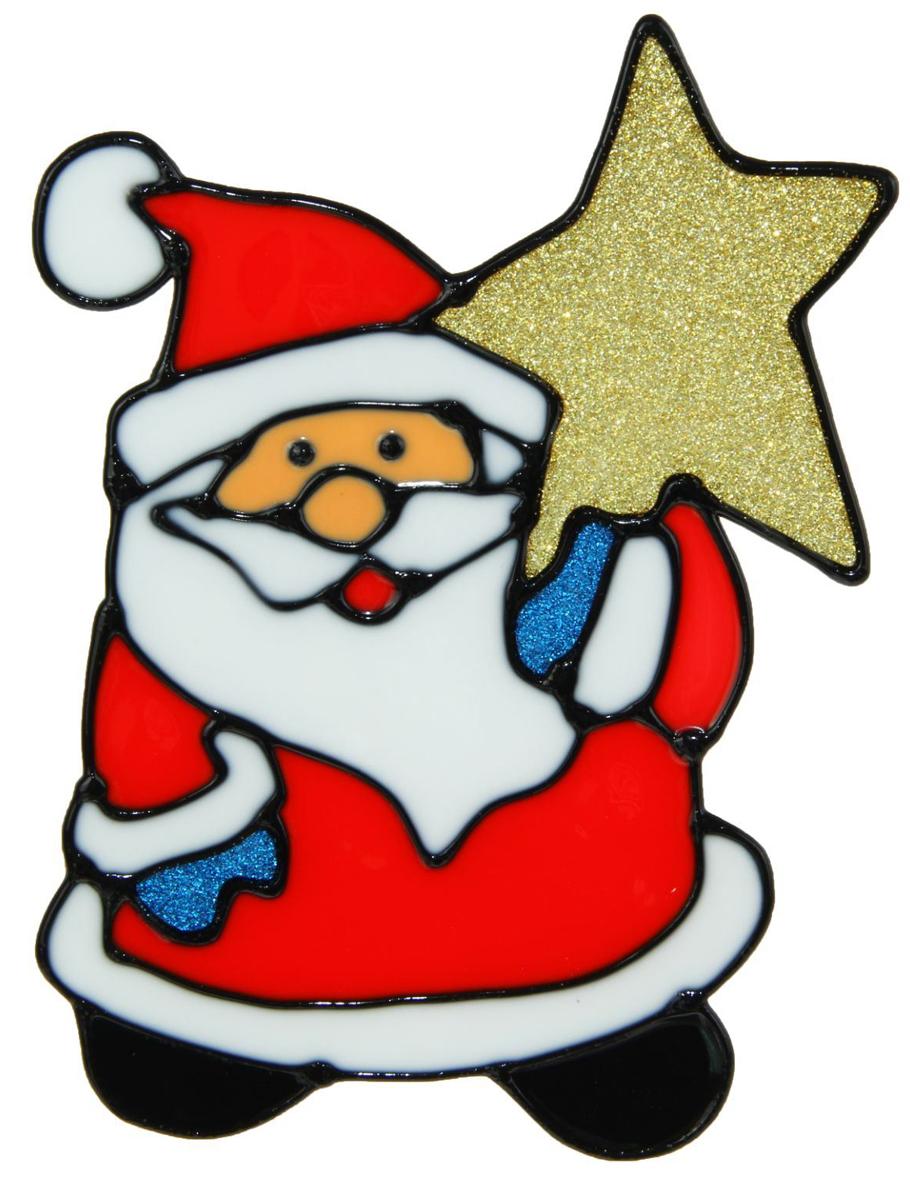 Украшение новогоднее оконное NoName Дед Мороз со звездой, 10 х 14,5 см1113532Новогоднее оконное украшение NoName Дед Мороз со звездой поможет украсить дом к предстоящим праздникам. Яркая наклейка крепится к гладкой поверхности стекла посредством статического эффекта. С помощью такого украшения вы сможете оживить интерьер по своему вкусу.Новогодние украшения всегда несут в себе волшебство и красоту праздника. Создайте в своем доме атмосферу тепла, веселья и радости, украшая его всей семьей.