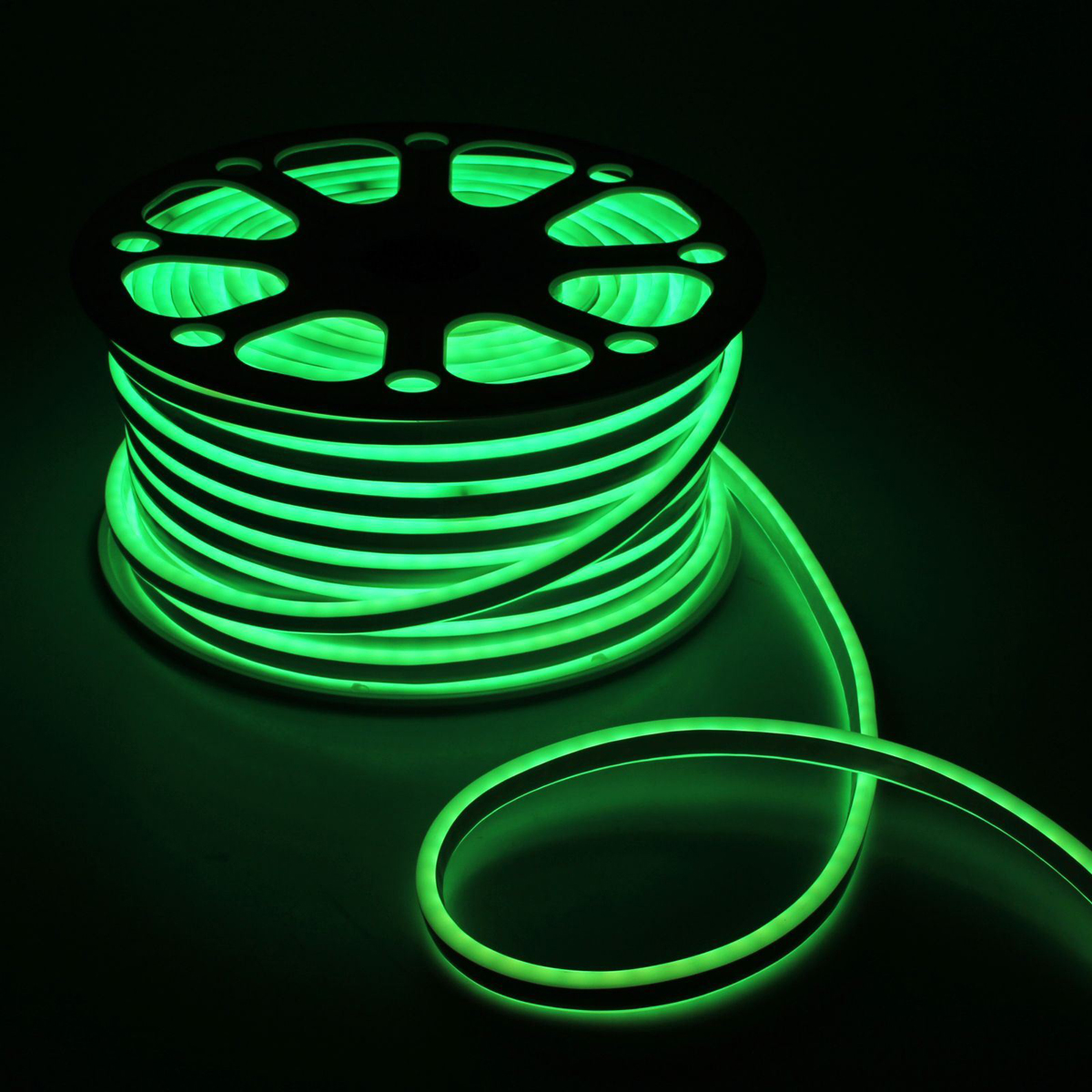 Гирлянда светодиодная Luazon, 120 ламп, 220 V, цвет: бирюзовый, 0,8 см х 1,6 см х 50 м. 1431267 гирлянда luazon дождь 2m 6m multicolor 671678