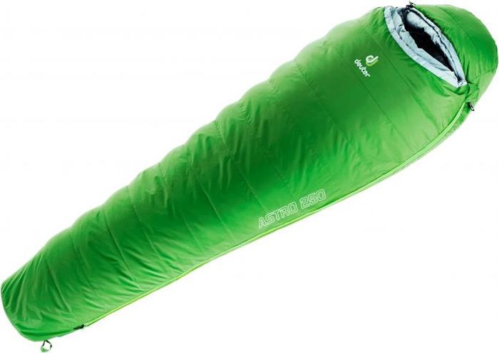 Спальный мешок Deuter Astro 250, левый, цвет: зеленый. 3711117_2006