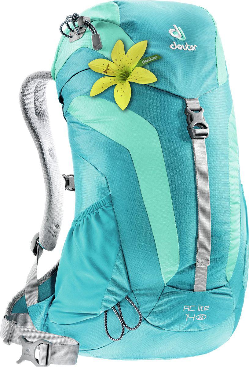 цена на Рюкзак туристический Deuter AC Lite, цвет: бирюзовый, 14 л