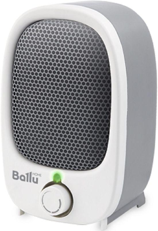 Ballu BFH/S-03N, White Grey тепловентиляторBFH/S-03NМини-тепловентилятор Ballu BFH/S-03N предназначен для быстрого дополнительного обогрева помещений. Прибор оснащен спиральным нагревательным элементом мощностью 900 Вт. Благодаря очень компактным размерам, высота всего 11,5 см, прибор легко размещается даже в небольшом помещении. Благодаря пониженному уровню шума в процессе работы, использование тепловентилятора максимально комфортно. Прибор эффективен при обогреве помещений площадью до 14 м2.Тепловентилятор оснащен защитой от перегрева. Она автоматически отключает прибор в случае перегрева, возникающего, например, при полном или частичном перекрытии решетки тепловентилятора. Система защиты при опрокидывании автоматически прекратит работу прибора в случае, если он будет опрокинут.Благодаря стильному дизайну и компактному исполнению тепловентилятор BFH/S-03N станет удачным дополнением интерьера.