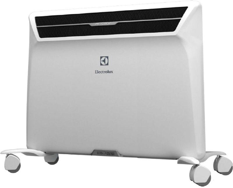 Electrolux ECH/AG2-1000 MF, White обогревательECH/AG2-1000 MFКонвектор Electrolux ECH/AG2-1000 MF — качество и надежность. Конструкция данной модели предусматривает как настенный, так и напольный монтаж, что повышает свободу планировки. Аэродинамическая система Intelligent Air Dynamic усиливает поток горячего воздуха на 37%, что обеспечивает быстрый нагрев помещения. Тепловой экран Thermal Defence уменьшает температуру корпуса до 50 градусов, что гарантирует безопасность эксплуатации.Как выбрать обогреватель. Статья OZON Гид