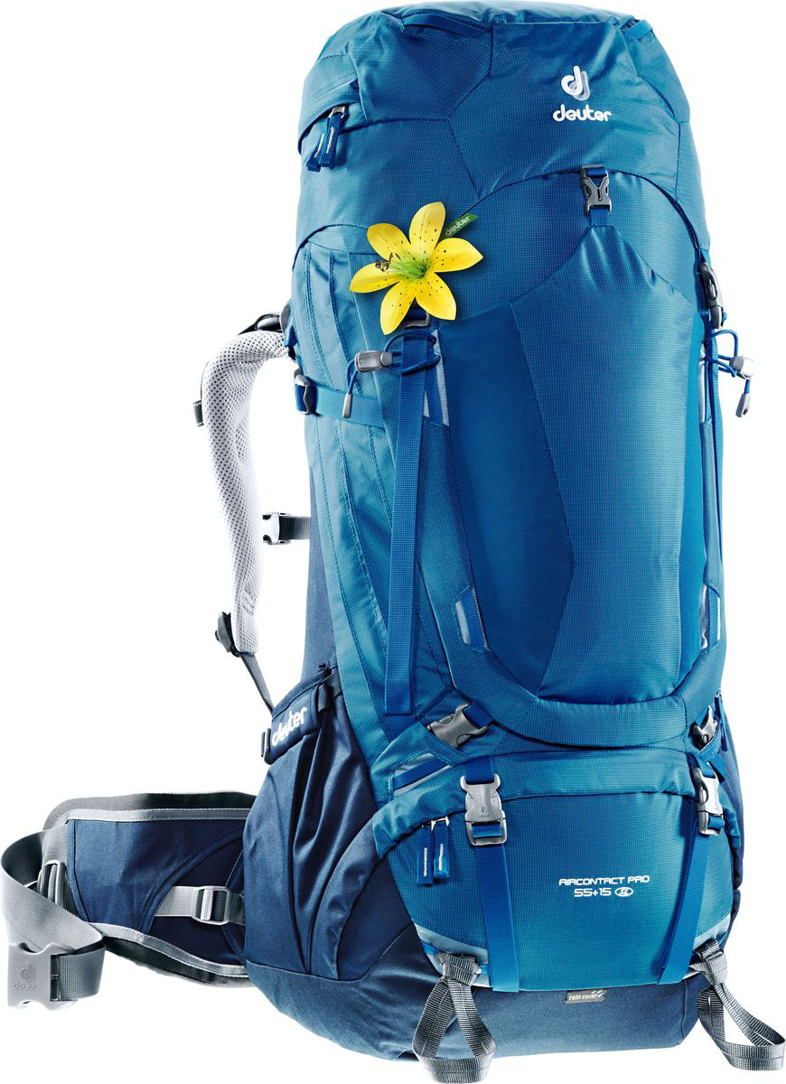 Рюкзак туристический Deuter Aircontact Pro, цвет: синий, 55 л рюкзак deuter daypacks giga pro midnight dresscode