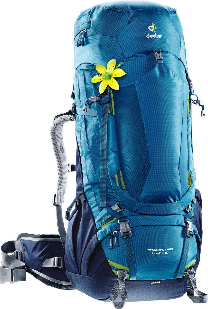 Рюкзак туристический Deuter Aircontact Pro, цвет: синий, 65 л рюкзак deuter daypacks giga pro midnight dresscode