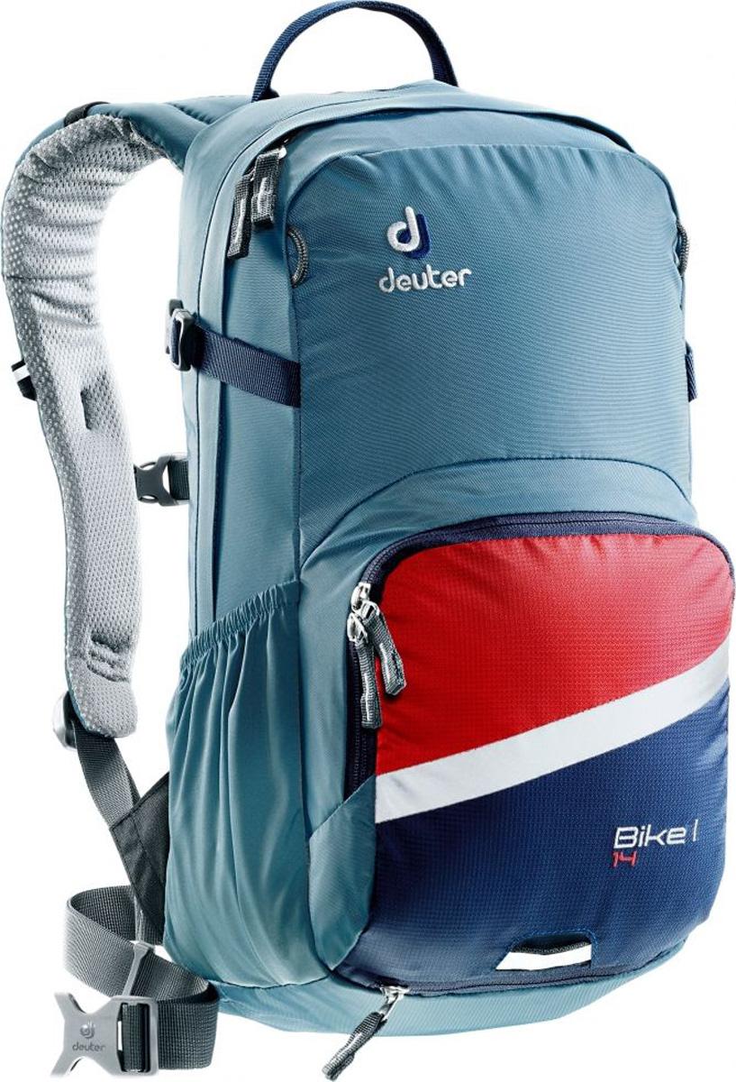 Рюкзак туристический Deuter Bike I, цвет: синий, 14 л рюкзак deuter bike compact exp 10 sl blueberry mint