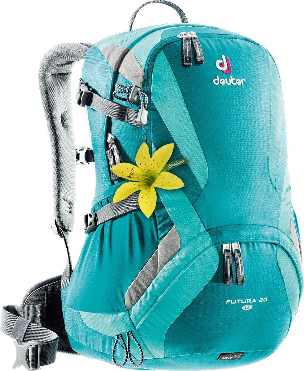 Рюкзак туристический Deuter Futura, цвет: петролевый, 24 л велорюкзак deuter 2015 aircomfort futura 24 sl papaya lava 34224 9503