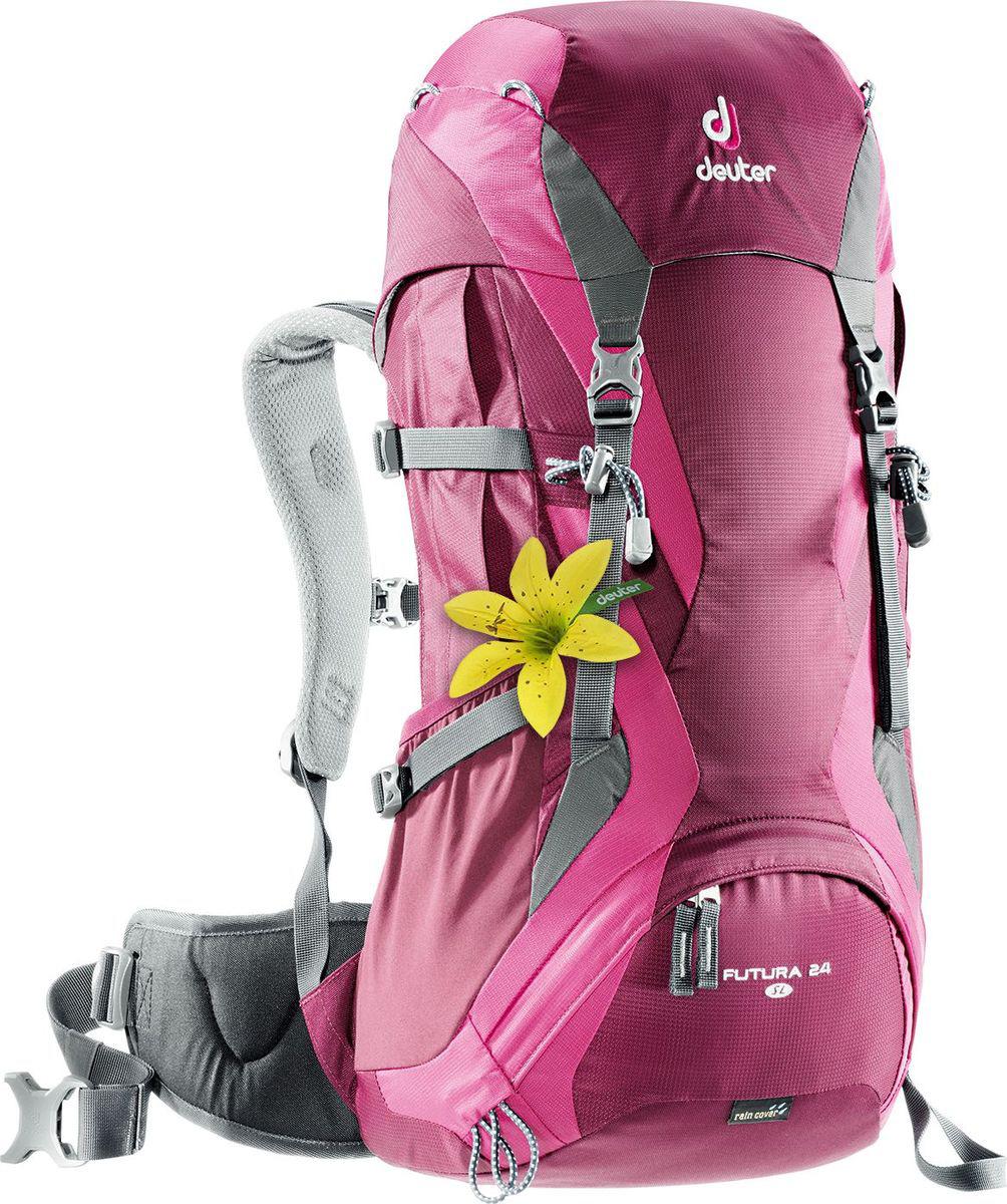 Рюкзак туристический Deuter Futura, цвет: фиолетовый, 24 л велорюкзак deuter 2015 aircomfort futura 24 sl papaya lava 34224 9503