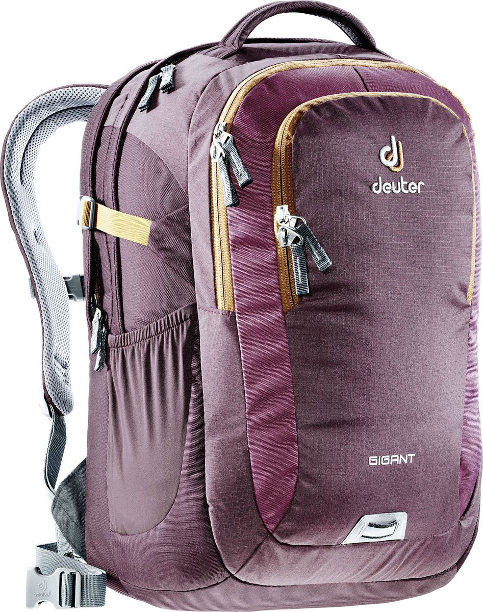 Рюкзак туристический Deuter Gigant, цвет: коричневый, 32 л80424_5607Рюкзак туристический Deuter Gigant.- просторное второе отделение под ноутбук 17,3;- спинка Airstripes для великолепной вентиляции; - очень комфортные, эргономичные, мягкие плечевые лямки; - главное отделение размером папки для бумаг; - большой передний карман с органайзером; - съемный карабинчик для ключей; - передний карман на молнии; - дно имеет мягкую подкладку; - утягивающие компрессионные стропы; - удобная ручка для переноски; - съемный поясной ремень; - нагрудная стропа с плавной регулировкой; - эластичные боковые карманы; - фиксатор для габаритного фонарика с отражателем 3М.