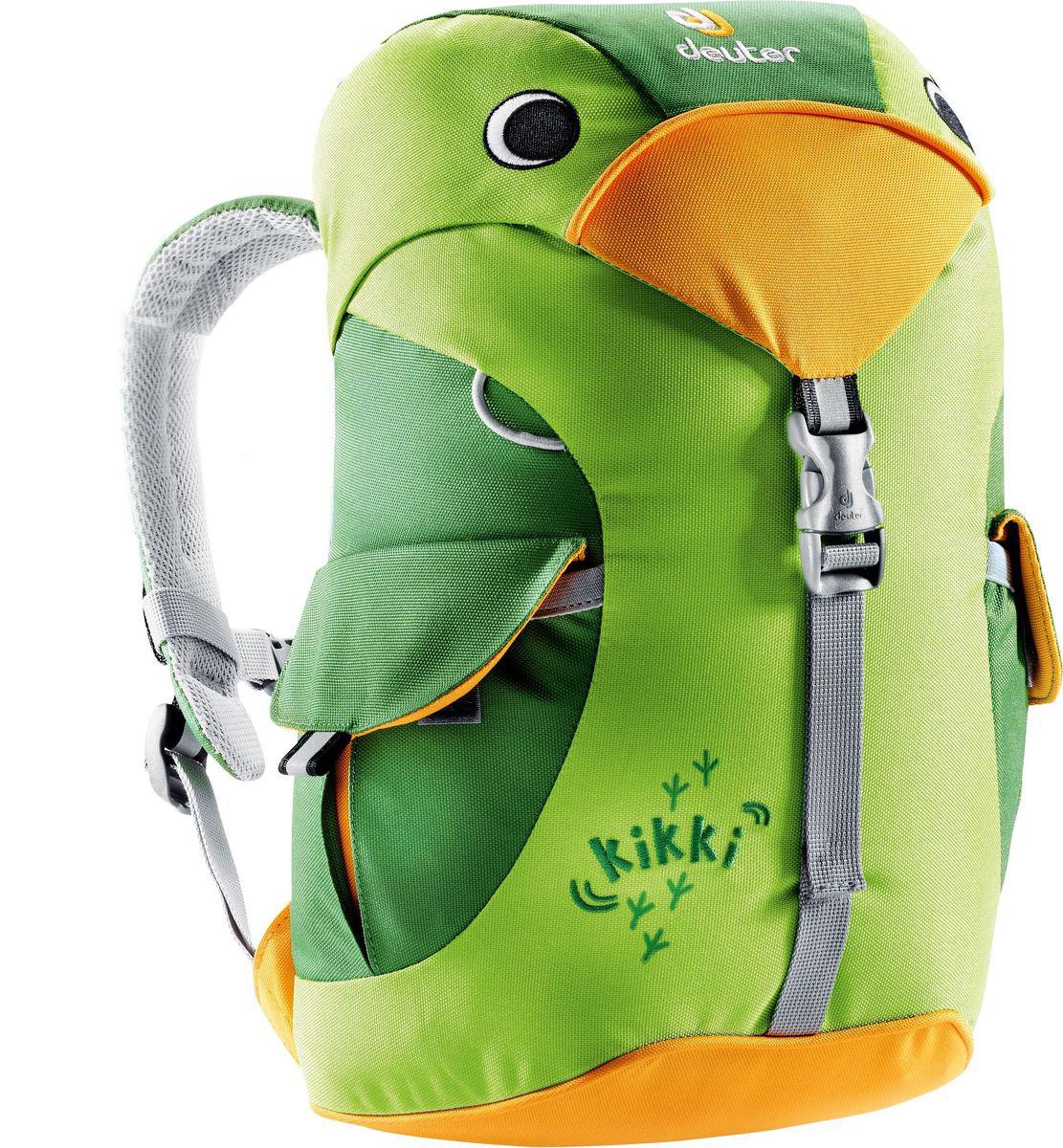Рюкзак туристический Deuter Kikki, цвет: зеленый, 6 л36093_2206Этот рюкзак отлично подходит для малышей в детском саду или на прогулках. Рюкзачек веселый и заботливый, он изготовлен из экологичной ткани, отвечающей самым строгим стандартам. материал: Deuter-Super-Polytex BS обьем: 6л грудной ремень внутри есть именная бирка есть два наружных кармана с застежками светоотражающие елементы спереди и по бокам просторное основное отделение Характеристики: Размер: 35x20x16 см Вес: 340 г