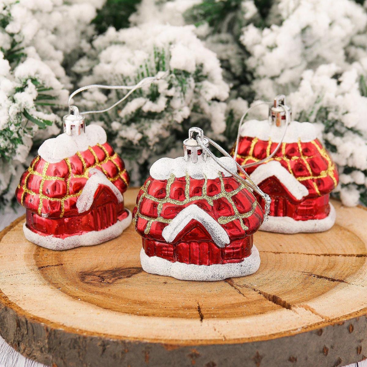Набор новогодних подвесных украшений Избушка, 5 х 5,5 см, 3 шт2123088Набор новогодних подвесных украшений отлично подойдет для декорации вашего дома и новогодней ели. С помощью специальной петельки украшение можно повесить в любом понравившемся вам месте. Но, конечно, удачнее всего оно будет смотреться на праздничной елке.Елочная игрушка - символ Нового года. Она несет в себе волшебство и красоту праздника. Такое украшение создаст в вашем доме атмосферу праздника, веселья и радости.