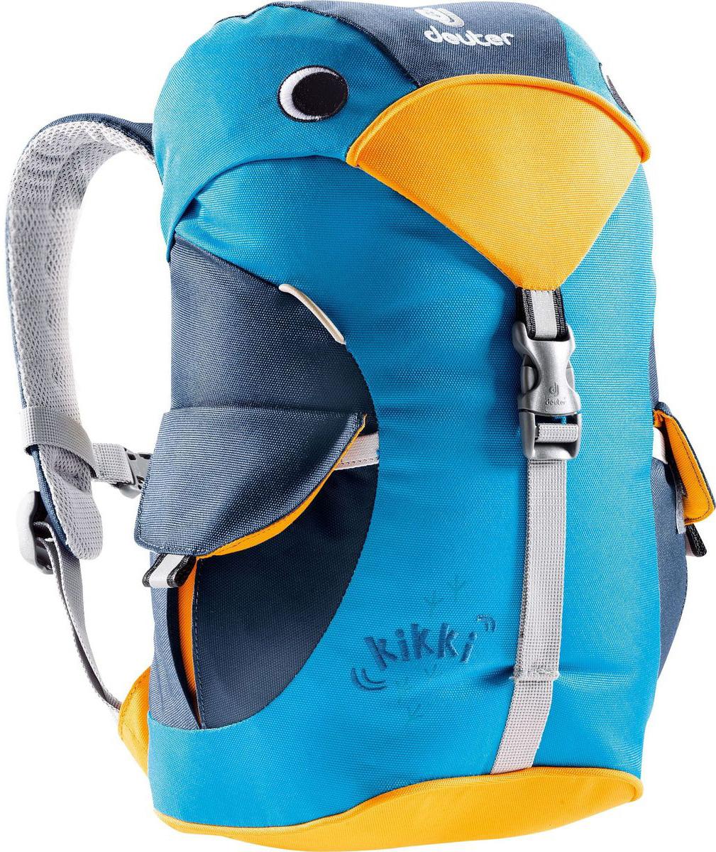 Рюкзак туристический Deuter Kikki, цвет: синий, 6 л36093_3312Этот рюкзак отлично подходит для малышей в детском саду или на прогулках. Рюкзачек веселый и заботливый, он изготовлен из экологичной ткани, отвечающей самым строгим стандартам. материал: Deuter-Super-Polytex BS объем: 6л грудной ремень внутри есть именная бирка есть два наружных кармана с застежками светоотражающие элементы спереди и по бокам просторное основное отделение Характеристики: Размер: 35x20x16 см Вес: 340 г