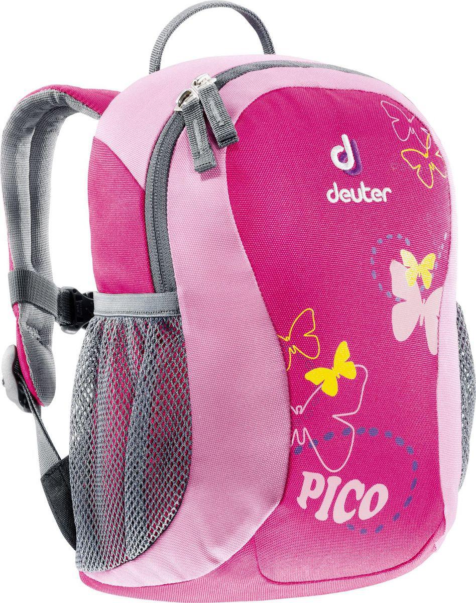 Рюкзак туристический Deuter Pico, цвет: розовый, 5 л36043_5040Рюкзак туристический Deuter Pico.Прекрасный рюкзак серии Pico - это веселый помощник для малышей в детском саду, на прогулках или в походе к озеру. Он веселый и забавный, предназначен для детей в возрасте от трех лет и старше. Рюкзак выполнен из высокотехнологичной и экологически безопасной ткани, отвечающей мировым стандартам маркировки Bluesign.Объем: 5 л.Что взять с собой в поход?. Статья OZON Гид