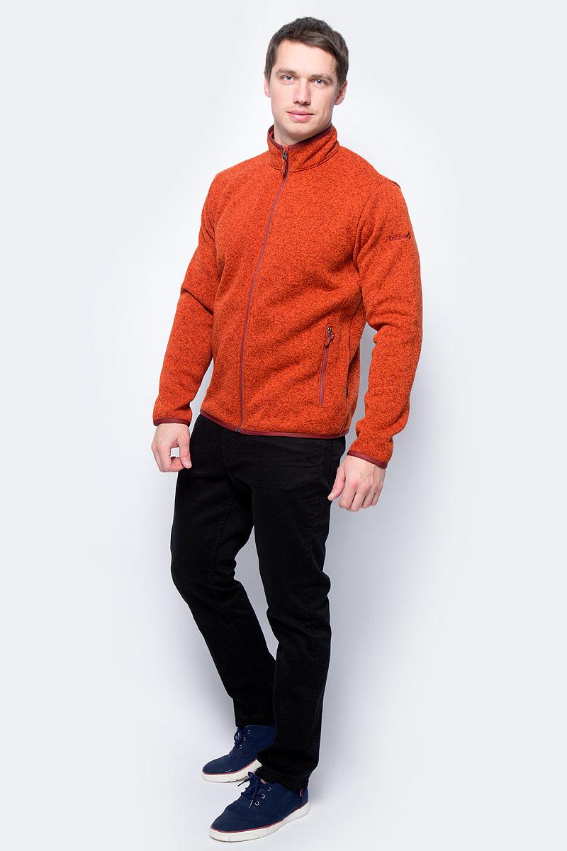 Куртка мужская Red Fox Tweed III, цвет: кирпичный. 00001040793_2200. Размер S (46)00001040793_2200Cтильная мужская куртка, выполненная из флисового материала с эффектом Sweater look. Легкая тёплая модель прекрасно согреет в прохладную погоду. В холодное время года изделие может использоваться в качестве среднего утепляющего слоя.Основные характеристики:- полуприлегающий силуэт- воротник-стойка, окантованный по верху эластичной тесьмой- воротник имеет трикотажную подкладку, обеспечивающую дополнительный комфорт- защита подборка от молнии- рукава и низ изделия окантованы эластичной тесьмой- два боковых кармана на молнии. Основное назначение: Путешествия, повседневное городское использованиеПосадка: Regular FitМатериал: 100% Polyester, Knit, 239 g/sqm, two side anti-pilling.