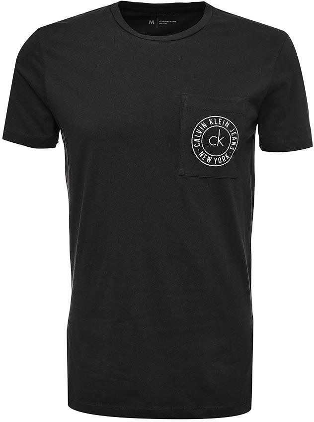 Футболка мужская Calvin Klein Jeans, цвет: черный. J30J305665_0990. Размер L (46/48)J30J305665_0990