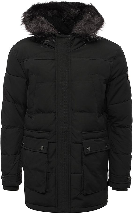 Куртка мужская Calvin Klein Jeans, цвет: черный. J30J305_0990. Размер M (44/46)J30J305_0990Куртка мужская Calvin Klein Jeans выполнена из хлопка и полиэстера. Модель с капюшоном и длинными рукавами застегивается на застежку-молнию.