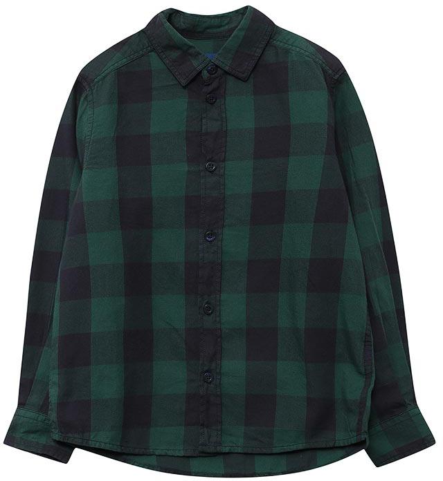 Рубашка для мальчика Tom Tailor, цвет: зеленый. 2033676.00.30_7610. Размер 1522033676.00.30_7610Рубашка для мальчика от Tom Tailor выполнена из натурального хлопка. Модель с длинными рукавами и отложным воротником застегивается на пуговицы.