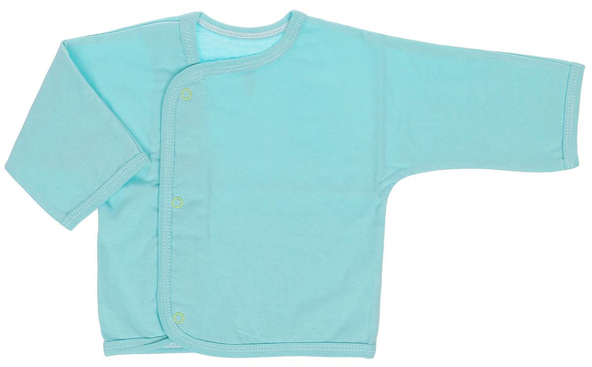 Кофточка Трон-Плюс, цвет: зеленый. 5153. Размер 68, 6 месяцев5153Кофточка с длинными рукавами Трон-плюс послужит идеальным дополнением к гардеробу младенца. Кофточка выполнена из кулирного полотна - натурального хлопка, благодаря чему она необычайно мягкая и легкая, не раздражает нежную кожу ребенка и хорошо вентилируется, а эластичные швы приятны телу малыша и не препятствуют его движениям. Кофточка застегивается спереди по всей длине при помощи кнопок, позволяют без труда переодеть ребенка.