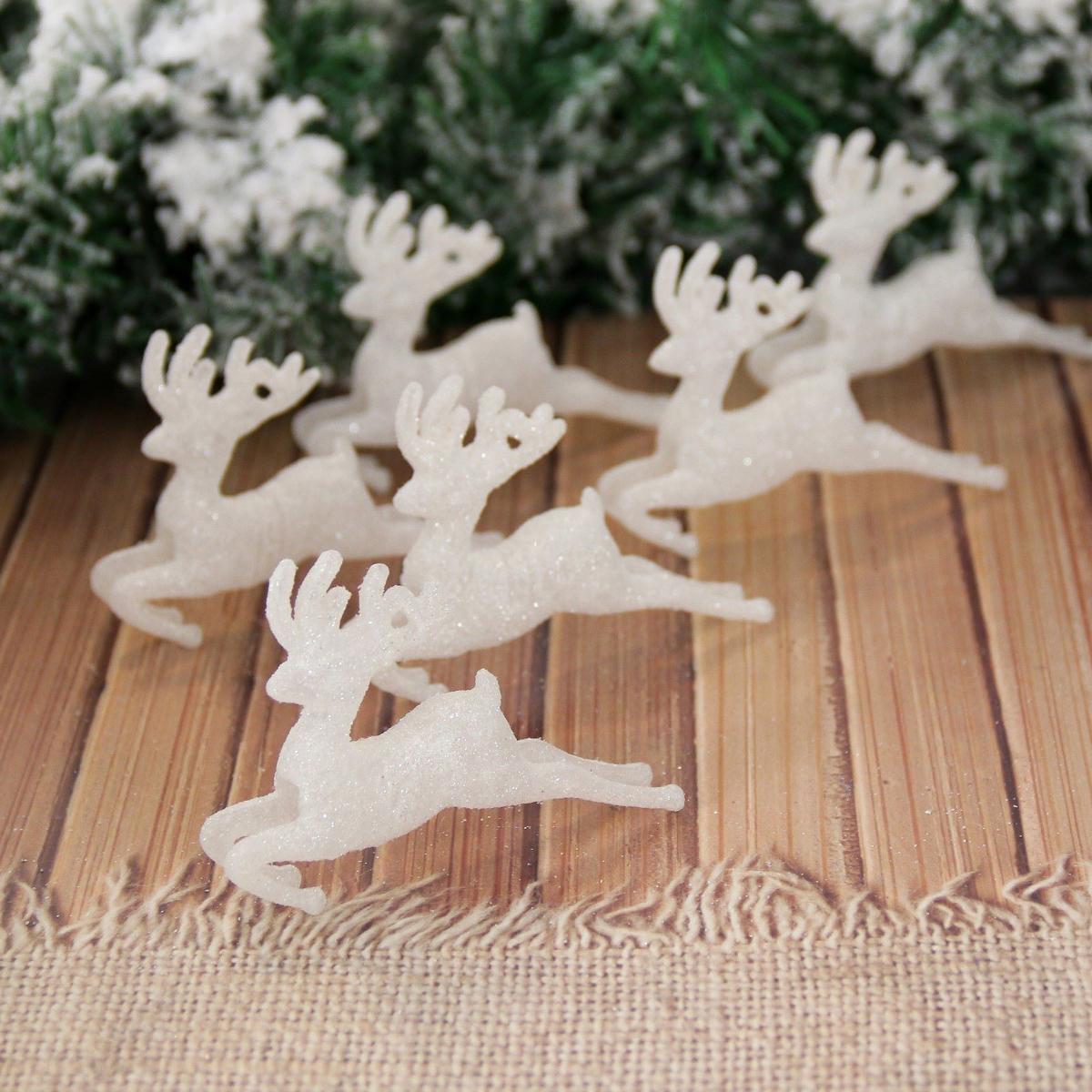 Набор новогодних подвесных украшений Снежные олени, 7 х 9,5 см, 6 шт2155345Невозможно представить нашу жизнь без праздников! Мы всегда ждем их и предвкушаем, обдумываем, как проведем памятный день, тщательно выбираем подарки и аксессуары, ведь именно они создают и поддерживают торжественный настрой. Это отличный выбор, который привнесет атмосферу праздника в ваш дом!
