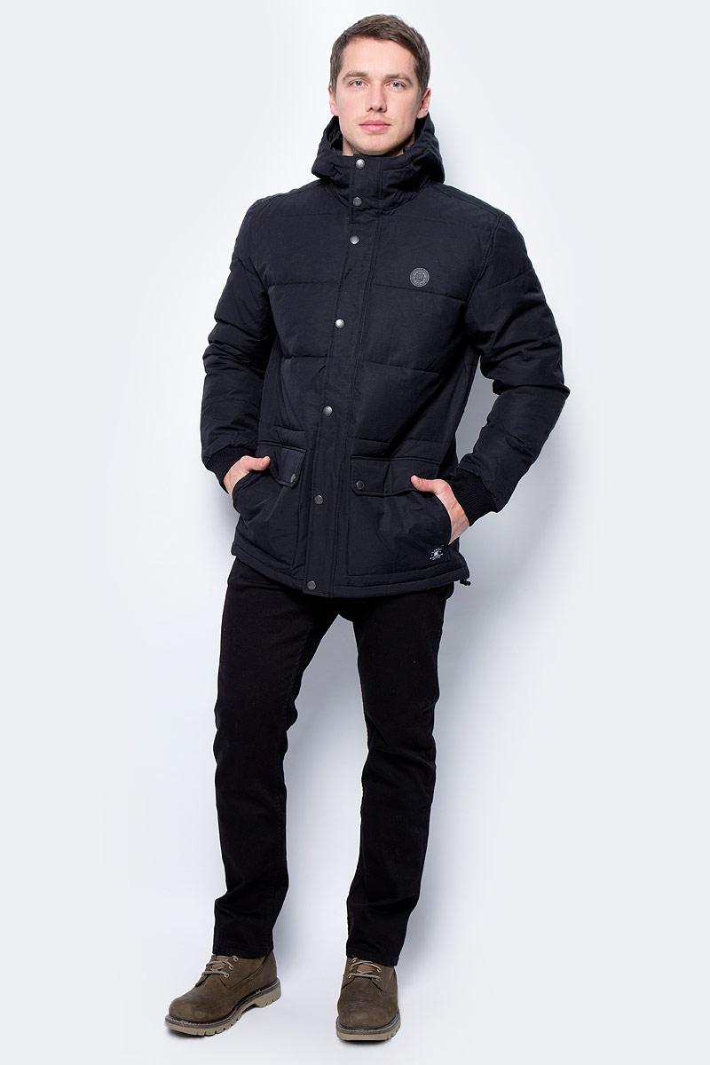 Фото Куртка мужская DC Shoes, цвет: черный. EDYJK03124-KVJ0. Размер XL (52)