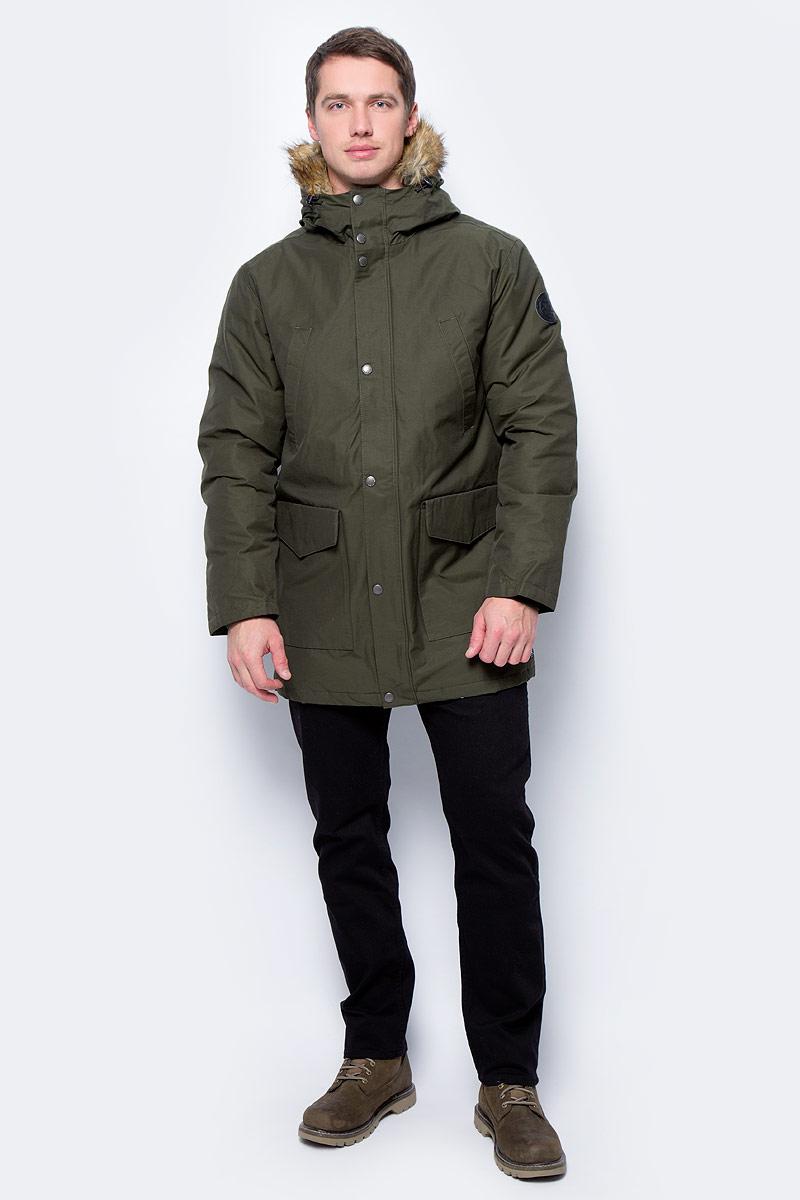 Куртка мужская DC Shoes, цвет: темно-зеленый. EDYJK03125-CSN0. Размер XXL (54)