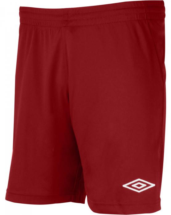Шорты спортивные для мальчика Umbro League Knit Short, цвет: рубин. 62160U. Размер YL (152)62160UШорты, выполненные из 100% полиэстера, отлично подойдут для игр и частых и активных футбольных тренировок. Модель на поясе имеет широкую эластичную резинку.