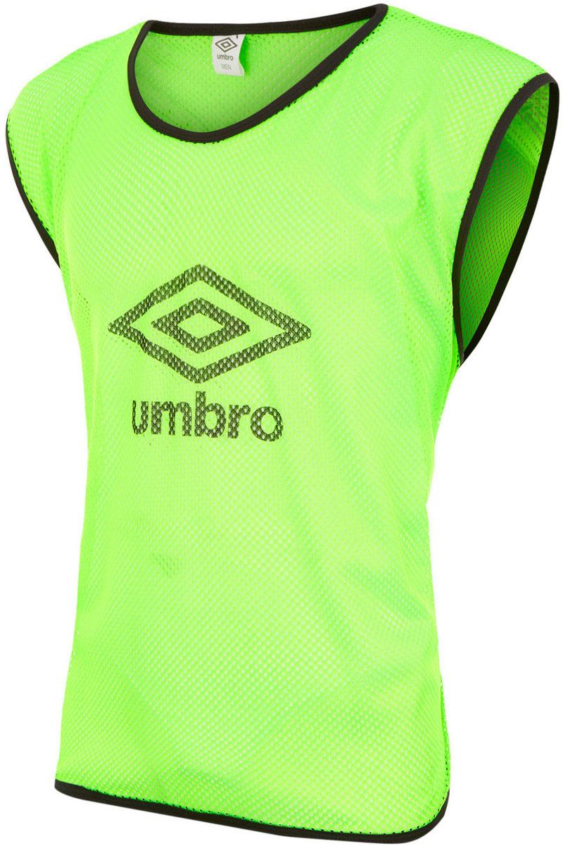 Манишка футбольная мужская Umbro Training Bib, цвет: зеленый. 340215. Размер универсальный340215Футбольная манишка свободного покроя выполнена из 100% полиэстера. Модель с глубокими вырезами по бокам обеспечит превосходную свободу движений во время игры.