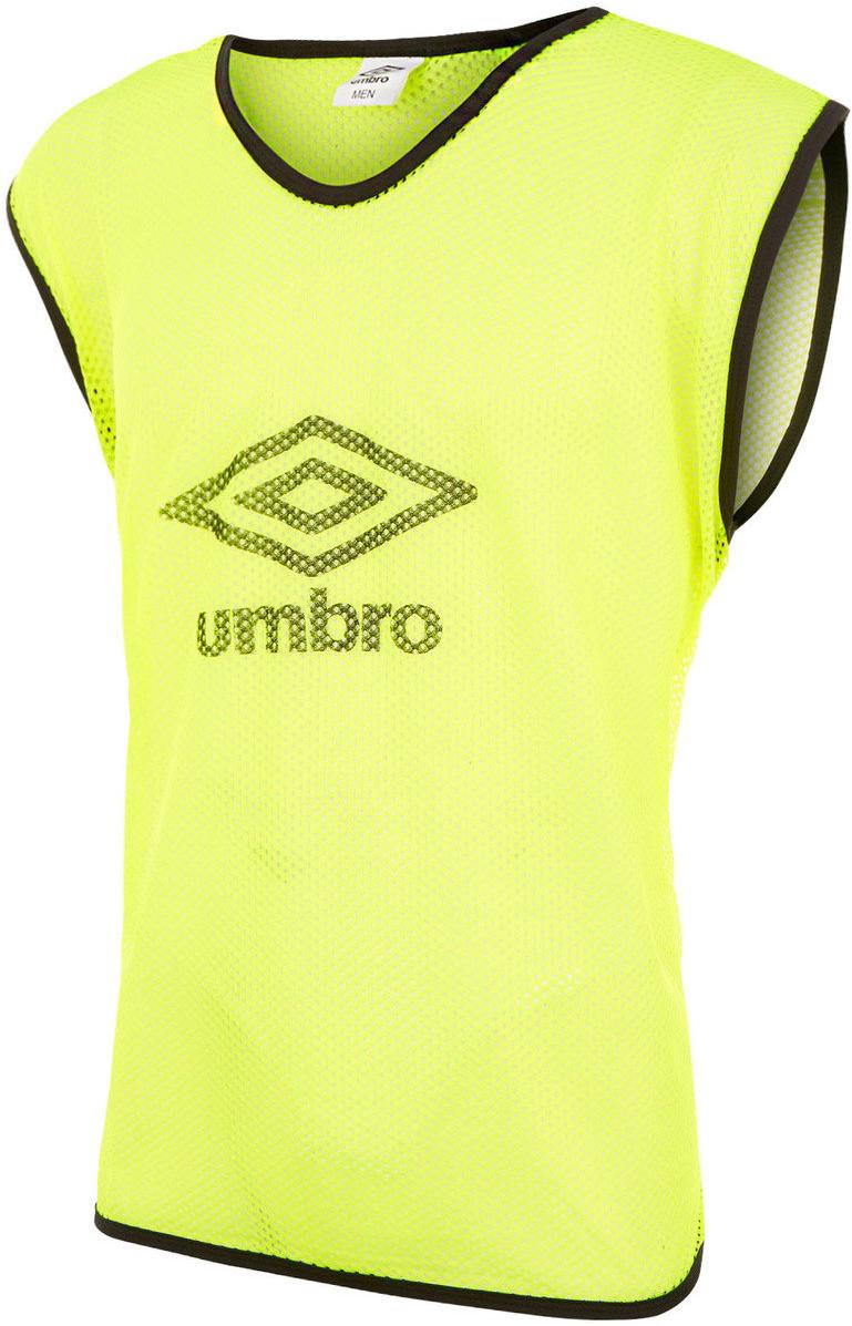 все цены на Манишка футбольная мужская Umbro Training Bib Big Logo, цвет: желтый. 340115. Размер универсальный онлайн