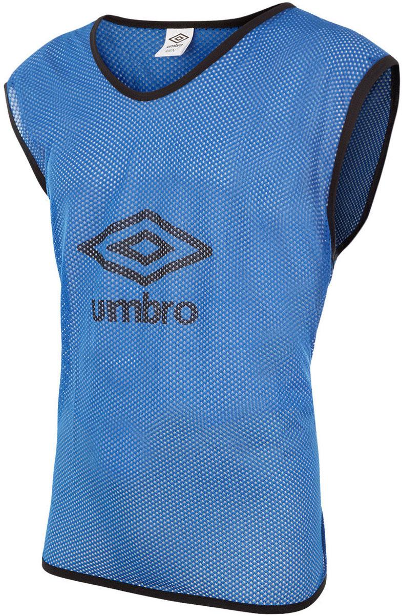 Манишка футбольная мужская Umbro Training Bib Big Logo, цвет: синий. 340115. Размер универсальный340115Футбольная манишка свободного покроя выполнена из 100% полиэстера. Модель с глубокими вырезами по бокам обеспечит превосходную свободу движений во время игры.
