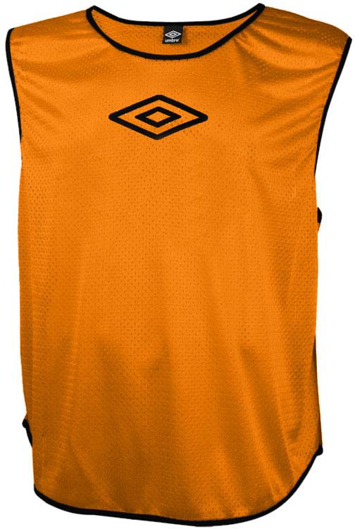 Манишка футбольная для мальчика Umbro Training Bib, цвет: оранжевый. 231910. Размер универсальный231910Футбольная манишка свободного покроя выполнена из 100% полиэстера. Модель с глубокими вырезами по бокам обеспечит превосходную свободу движений во время игры.