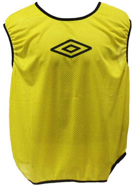 Манишка футбольная для мальчика Umbro Training Bib, цвет: желтый. 231910. Размер универсальный231910Футбольная манишка свободного покроя выполнена из 100% полиэстера. Модель с глубокими вырезами по бокам обеспечит превосходную свободу движений во время игры.