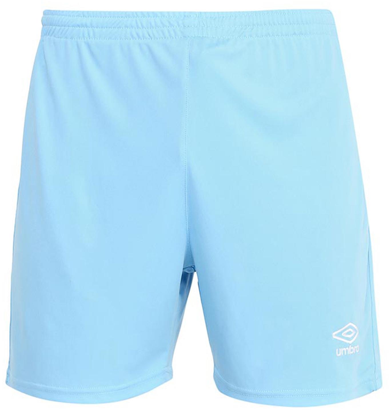 Шорты спортивные для мальчика Umbro Field Short, цвет: голубой, белый. 133015. Размер YL (152) футболка с длинным рукавом для мальчика umbro bradfield jersey l s цвет белый красный 60027u размер yl 152
