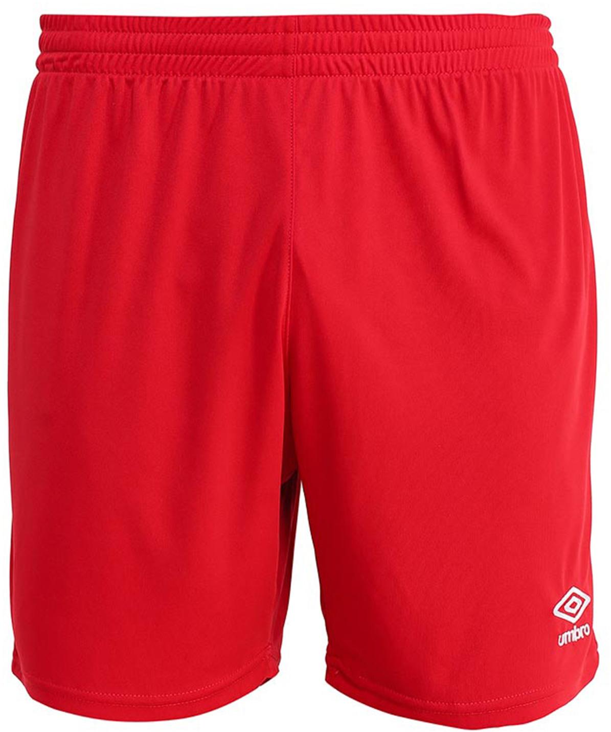 Шорты спортивные для мальчика Umbro Field Short, цвет:  красный, белый.  133015.  Размер YL (152) UMBRO