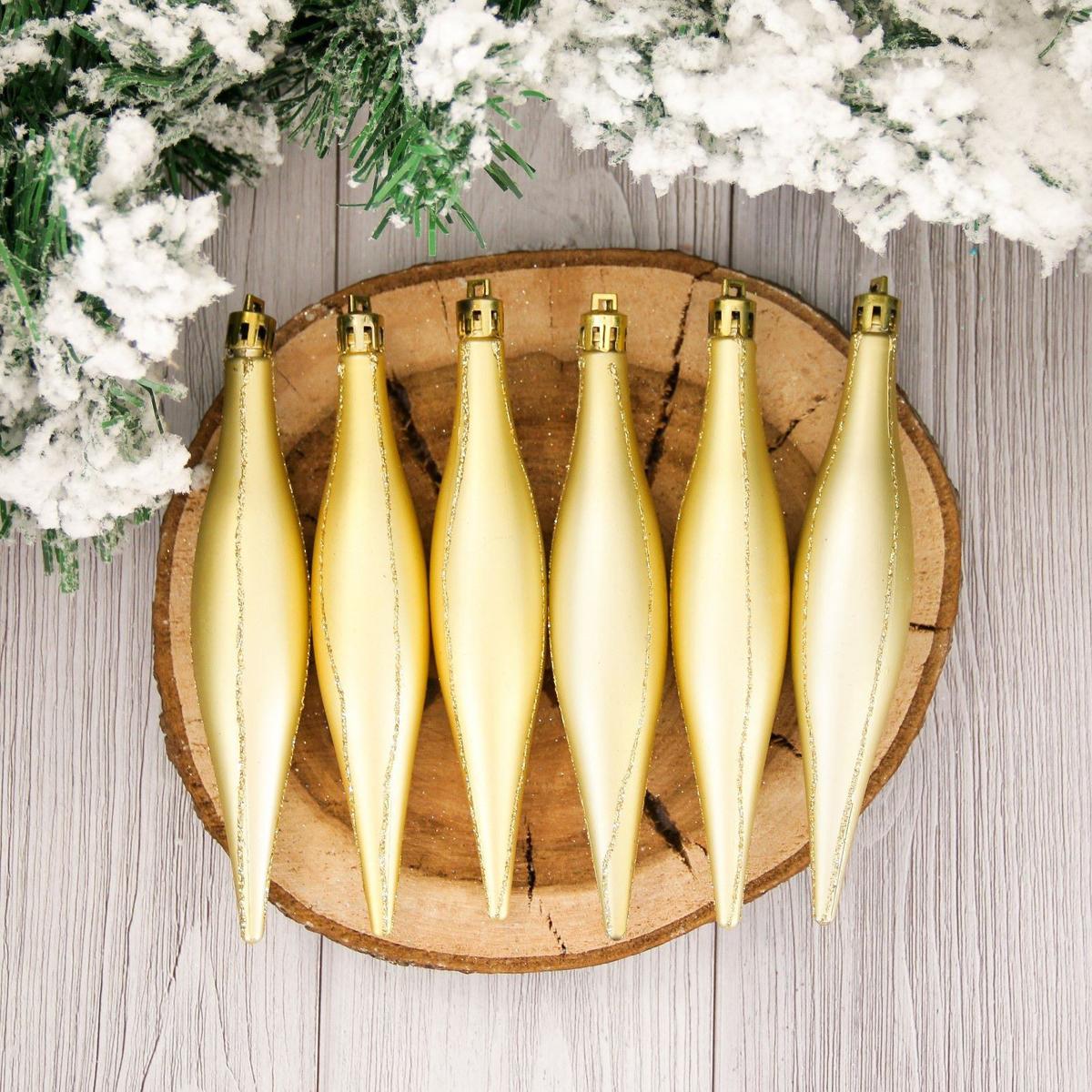 Набор новогодних подвесных украшений Сосульки, длина 16 см, 6 шт2155335Набор новогодних подвесных украшений отлично подойдет для декорации вашего дома и новогодней ели. С помощью специальной петельки украшение можно повесить в любом понравившемся вам месте. Но, конечно, удачнее всего оно будет смотреться на праздничной елке.Елочная игрушка - символ Нового года. Она несет в себе волшебство и красоту праздника. Такое украшение создаст в вашем доме атмосферу праздника, веселья и радости.