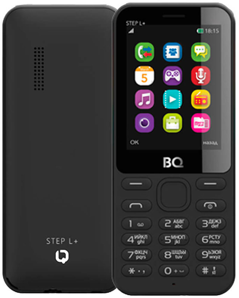 BQ 2431 Step L+, Black46613453BQ-2431 Step L+ станет для вас верным другом и надежным помощником. Телефон оснащен батареей 600 мАч.Большая диагональ экрана в 2,4 позволяет использовать телефон даже людям со слабым зрением. В число дополнительных возможностей телефона входят поддержка bluetooth-соединения, FM-радиоприемник. Совместимость с microSD-картами емкостью до 32 Гб позволяет использовать BQ-2431 Step L+ как флеш-память.Телефон сертифицирован EAC и имеет русифицированную клавиатуру, меню и Руководство пользователя.