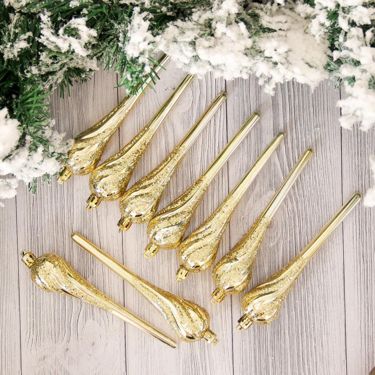 Набор новогодних подвесных украшений Сосульки, длина 17 см, 9 шт2155336Набор новогодних подвесных украшений отлично подойдет для декорации вашего дома и новогодней ели. С помощью специальной петельки украшение можно повесить в любом понравившемся вам месте. Но, конечно, удачнее всего оно будет смотреться на праздничной елке.Елочная игрушка - символ Нового года. Она несет в себе волшебство и красоту праздника. Такое украшение создаст в вашем доме атмосферу праздника, веселья и радости.