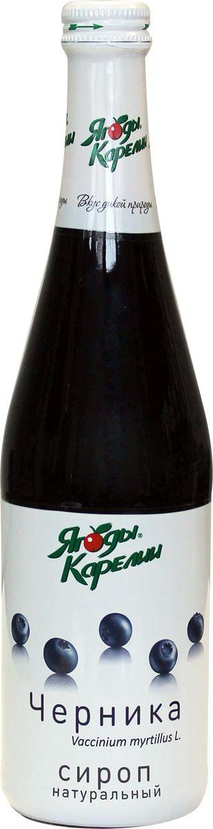 Ягоды Карелии сироп черничный с мякотью, 0,51 л миндальный сироп для кофе
