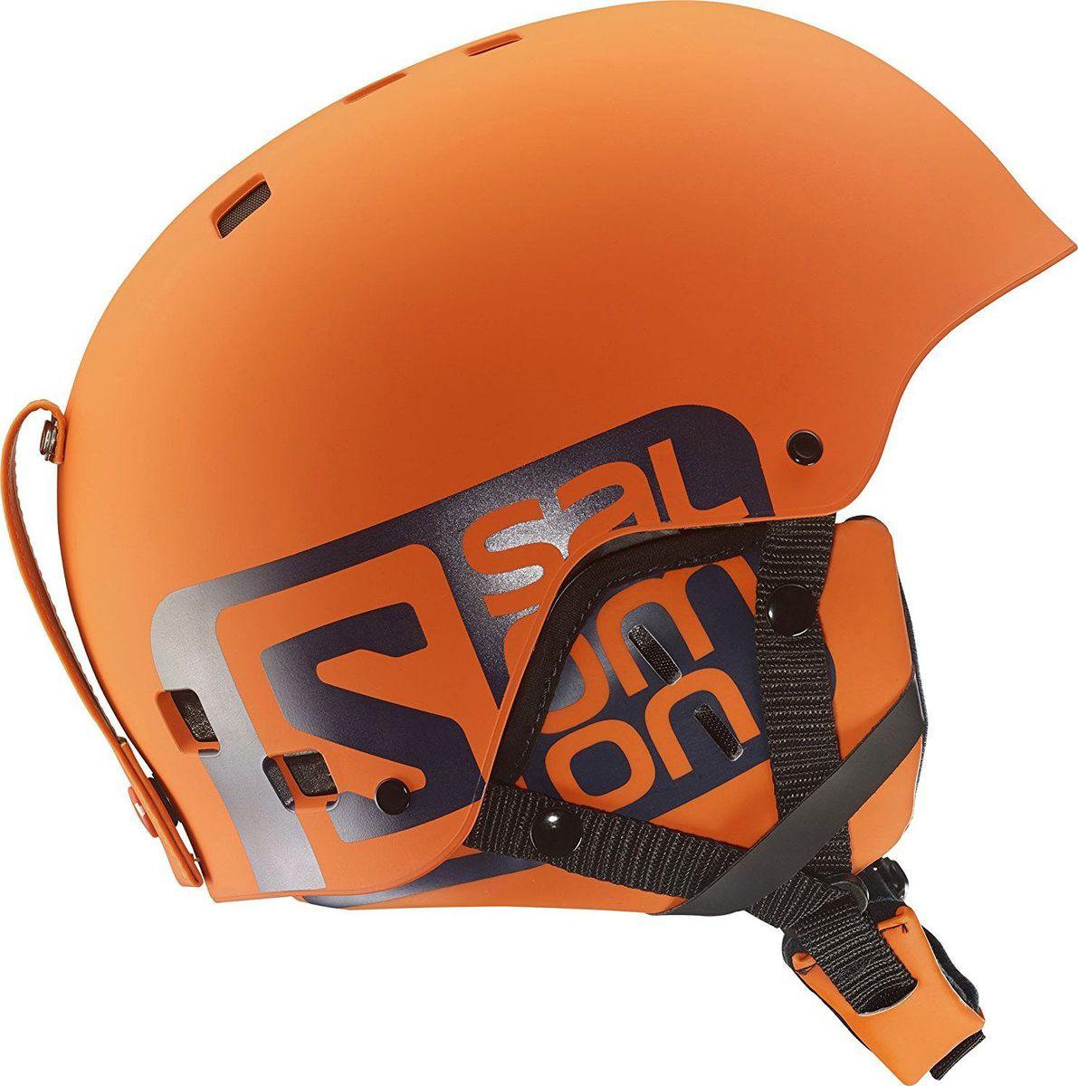 Шлем горнолыжный Salomon Helmet Brigade Orange Matt. Размер L (58/59)L37776300Горнолыжный шлем с литой внешней прочной поверхностью и съемными накладками на уши. Внутренний слой из вспененного материала ABS+EPS особой формы отлично поглощает как прямые удары, так и угловые. Стреп на подбородок выполнен из мягкого текстиля и оснащен застежкой-защелкой.Съемная подкладка, которую можно стирать при необходимости.