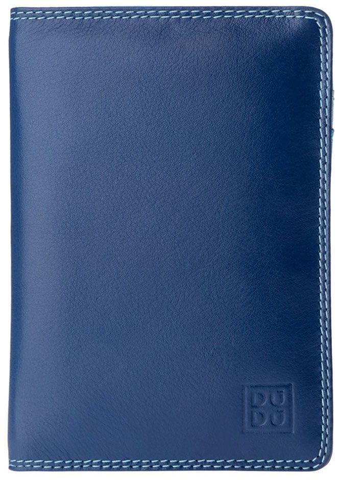 Обложка для паспорта DuDu Bags Paul, цвет: голубой. 534-1508-blueНатуральная кожаЦветная обложка DuDu Bags серии Paul из натуральной кожи станет отличным дополнением к кошельку или портмоне из коллекции Colorful. Стильная внешне и действительно функциональная внутри - помимо паспорта, обложка также рассчитана для размещения водительских документов и небольшого количества пластиковых карт. Необычное цветовое сочетание, присущее всей коллекции DuDu, не оставит вас без внимания окружающих и будет радовать не один год.