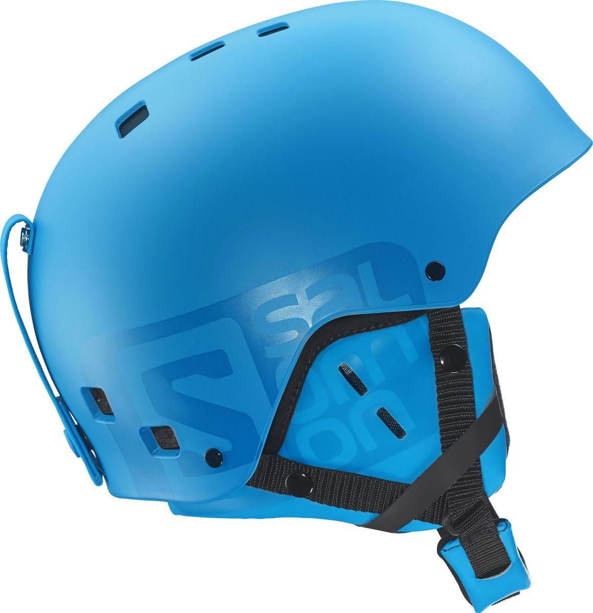Шлем горнолыжный Salomon Helmet Brigade Blue Matt. Размер S (55/56)L37776400Горнолыжный шлем с литой внешней прочной поверхностью и съемными накладками на уши. Внутренний слой из вспененного материала ABS+EPS особой формы отлично поглощает как прямые удары, так и угловые. Стреп на подбородок выполнен из мягкого текстиля и оснащен застежкой-защелкой.Съемная подкладка, которую можно стирать при необходимости.