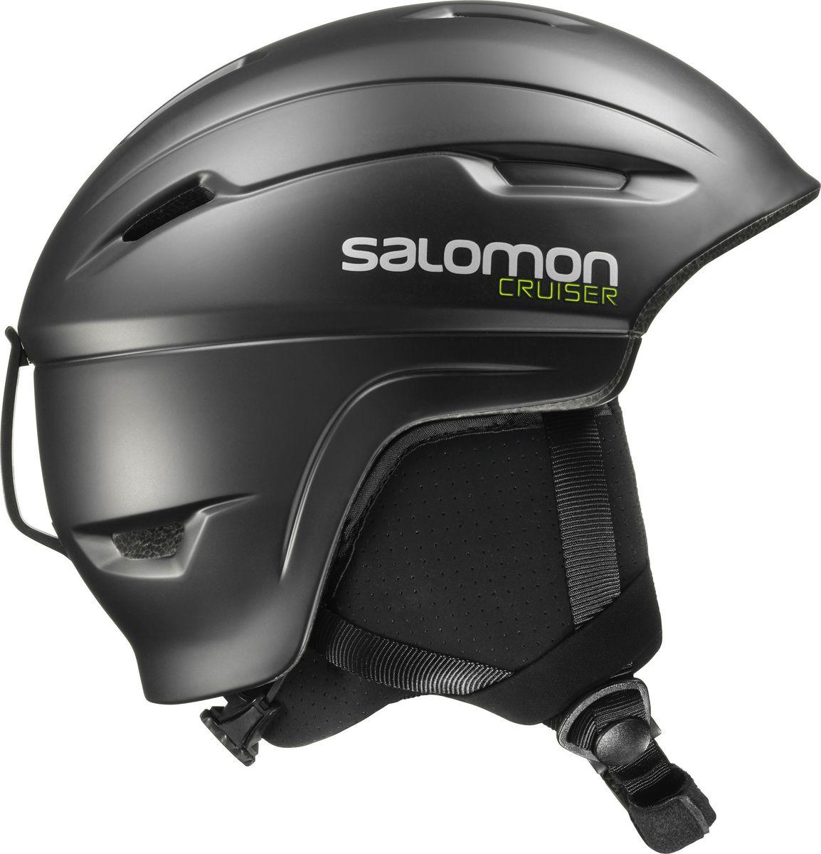 Шлем горнолыжный Salomon Helmet Cruiser 4D Black. Размер M (56/59)L39035100Шлем имеет верхнюю полуоткрытую конструкцию, выполненную как «раковина», в основе которой лежит материал полистирол. Достигается впечатляющая вентиляция посредством использования циркулируемого воздушного потока. Материал легко отстирывается, даже после больших загрязнений на поверхности. Включена и специальная конструкции наушников, которая может без проблем интегрироваться с любой аудиосистемой. Имеет высокую прочность, долговечность. Шлем с применением инновационного материала EPS 4D - эффективное поглощение удара с любого направления - наклонного или вертикального. Система регулировки размера Custom Dial - система быстрой и удобной регулировки поворотным кольцом сзади шлема. Система вентиляции Airflow - вентиляционные каналы, расположенные в стратегически важных зонах, делают воздушный поток и вывод тепла. Съемная подкладка. Съемная защита ушей. Шлем совместим с аудио-аксессуарами.