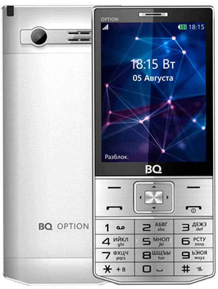 BQ 3201 Option, Silver85952828Комфортный просмотр и использование всех функций доступных телефону BQ 3201 Option возможно благодаря цветному дисплею с QVGA разрешением 240 х 320 и диагональю 3,2. Телефон подходит не только для осуществления звонков, но и может использоваться, как развлекательная платформа. Помимо встроенных игр, в BQ 3201 Option есть возможность просмотра телевизионных каналов и прослушивания радио, без использования интернет соединения. Есть возможность сфотографировать необходимые документы или информацию на встроенную камеру с разрешением 1,3 МП. Одно из главных преимуществ модели это аккумулятор мощностью 1750 мАч, что при невысоких запросах ОС позволят долго оставаться на связи в режиме разговора, а в режиме ожидания телефон способен оставаться в рабочем состоянии до нескольких дней. Доступный объем памяти легко можно увеличить до 16 Гб с помощью Micro SD Card.Телефон сертифицирован EAC и имеет русифицированную клавиатуру, меню и Руководство пользователя.
