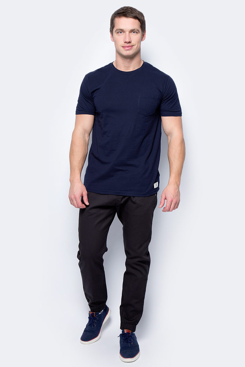 Футболка мужская DC Shoes, цвет: темно-синий. EDYKT03360-BYJ0. Размер S (46) latest fashion genuine leather driving loafer shoes men s business oxford shoes